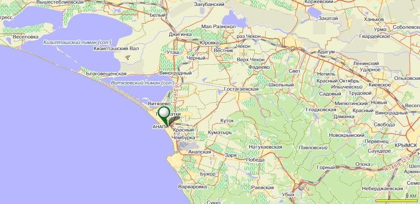 карта с указанием поселков
