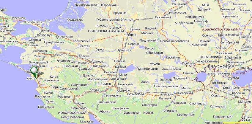 карта Краснодарского края,