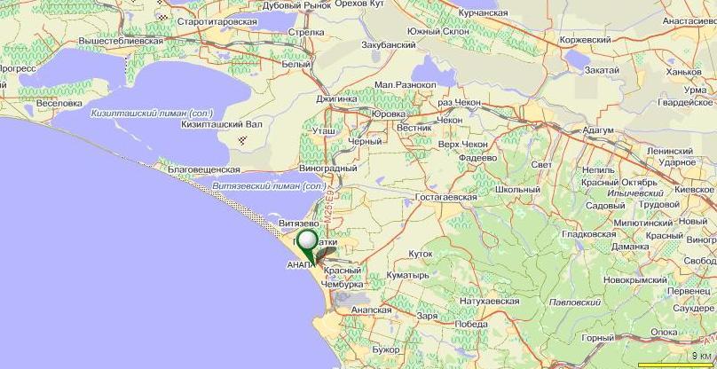 активных карта автодороги новороссийск витязево аэропорт всего