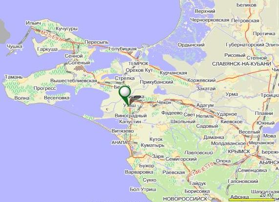 Подробная карта Анапского